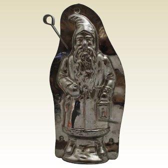 "Circa: 1935-1960 German Laurosch 8"" 'Father Christmas' Holding Lantern Chocolate Mold"