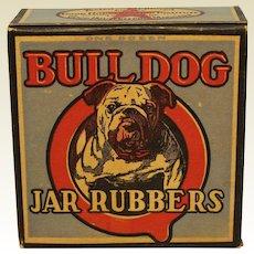 1930'S, 40'S Unopened Box of 12 'Bull Dog' Jar Rubbers