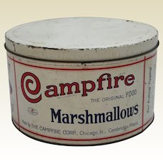 Circa: 1920-1940  'Campfire Marshmallow'  5 Lb. Litho Tin