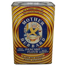 "1934-1955 Large 5 lb. ""Mother Hubbard"" Pancake Flour Box"