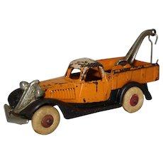 "Circa: 1933-1935 Hubley 3-Tone Larger Size 7"" Terraplane Tow Truck/ Wrecker"