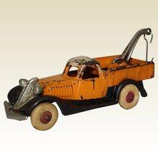 Circa: 1933-1935 Hubley 3-Tone Larger Size Terraplane Tow Truck/ Wrecker