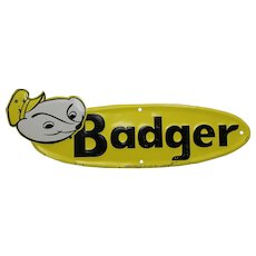 1950's Smaller Embossed 'Badger' (Farm Equipment) Metal Sign