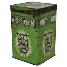 1920's, early 1930's  'White Lion' Cigar Litho Tobacco Tin