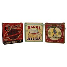 Three Assorted Full Boxes of Vintage Jar Rings (Regal, Crown & Dauntless).