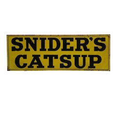 Turn of Century 'Snyder's Catsup' Embossed Tin Advertising Sign