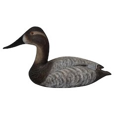 Circa: 1983, Torry Ward Canvasback Hen Duck Decoy