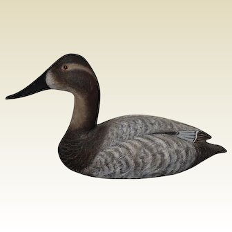Circa: 1983, Torry Ward Canvasback Hen Duck Decoy