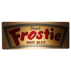 "Circa: 1950's ""Drink Frostie Root Beer"" Lighted Sign"