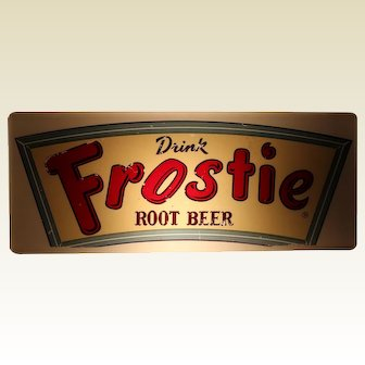 """Circa: 1950's """"Drink Frostie Root Beer"""" Lighted Sign"""