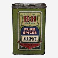 1920's, 30's H & H Brand Spice Tin