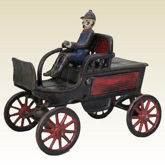 Circa: 1896-1910 Cast Iron Tiller Steering (Horseless Carriage) Automobile.