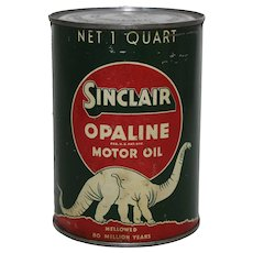 Circa 1930's 1 Quart Sinclair Opaline Motor Oil Can