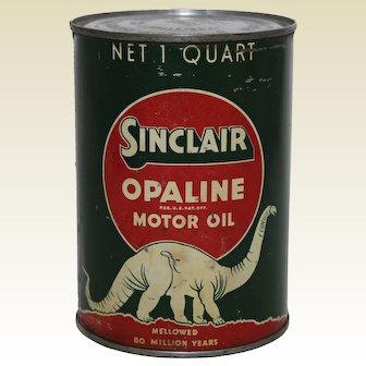 Circa 1930's 1 Quart Sinclair Opaline Motor Oil Can