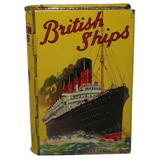 Late 1920's, 1930's 'British Ships' Book Shaped Lyon's Toffee Tin