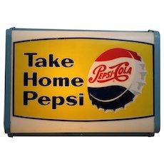"""Circa: 1950's """"Take Home Pepsi"""" Lighted Sign"""