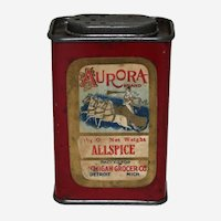 Rare Early 1900's 'Aurora Brand' Spice Tin