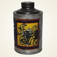 Circa: 1920-1940 'Whiz' Brand Metal Polish Can with Whiz Kids Graphic