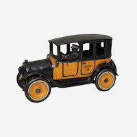 "Circa 1923-1926 Arcade 8"" Yellow Cab with Original Driver"
