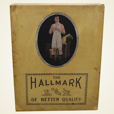Circa: 1920's The Hallmark Men's 'Union Suits' Advertising Box