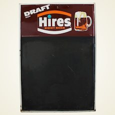 1960's Hires Root Beer Metal Advertising Menu Board