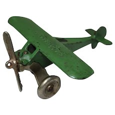 "Circa 1929-1932 Arcade 5 3/4"" 'Monocoupe' Cast Iron Toy Airplane"