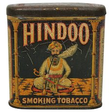 Rare, Circa: 1890-1912 'Hindoo Smoking Tobacco' Litho Pocket Tin