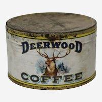 Very Rare 1920's Unopened Sample Can of Deerwood Coffee