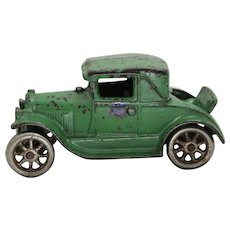 "Circa: 1928-1932 Cast Iron 5"" Arcade Ford Coup with Rumble Seat"