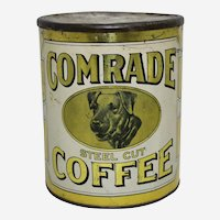 Circa: 1910-1925 Larger 3 lb. 'Comrade' Brand Litho Coffee Tin