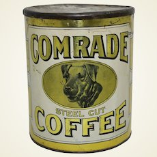 Circa: 1910-1925 Larger 3 lb. 'Comrade' Brand Litho Coffee Tin