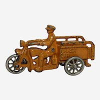 "1930's  4.75"" Cast Iron Hubley Indian Crash Car"