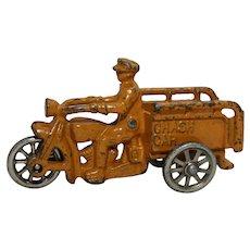 "1930's  4.75"" Cast Iron Hubley Indian Crash Car"