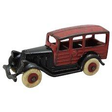"Circa: 1933 Hubley 6"" Long Cast Iron ""Woody"" Station Wagon"