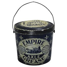 1895-1922 'Empire Axle Grease' Litho Tin Advertising Pail.