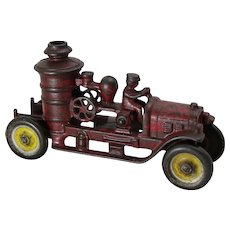 1930's Kenton Cast Iron Toy Fire Engine Pumper Truck