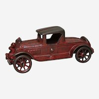 "1930's Cast Iron A.C. Williams 6"" Toy Roadster Car"