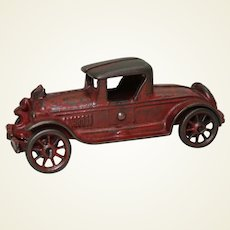 """1930's Cast Iron A.C. Williams 6"""" Toy Roadster"""