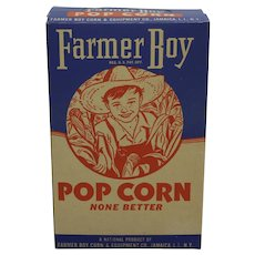 Rare, Circa: 1940's Farmer Boy Pop Corn Box