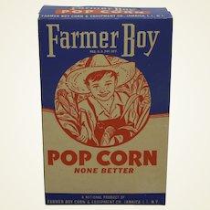Rare, Circa: 1940's Farmer Boy Pop Corn Box