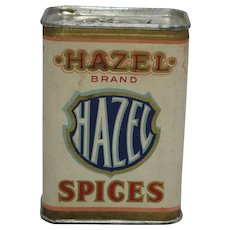 Early 1900's Hazel Brand (Ginger) Spice Container