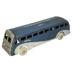 "Circa: 1938-1941 Arcade Cast Iron ""Greyhound Lines….GMC"" Greyhound Bus"