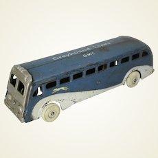 "Circa: 1938-1941 Arcade Cast Iron ""Greyhound Lines….GMC"" Greyhound Bus"