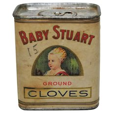 "1930's, 40's ""Baby Stuart"" Brand (Cloves) Spice Container"