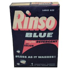 1950-1963 Unopened 1.5 Lb. Box of Rinso Blue Detergent