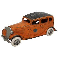 "Rare, 1933-1934 Arcade Car ""Century of Progress"" Larger  6 1/2"" Ford Taxi"