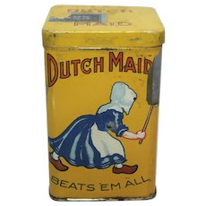 "Rare Early 1900's ""Dutch Maid"" Litho Cigar Tin"