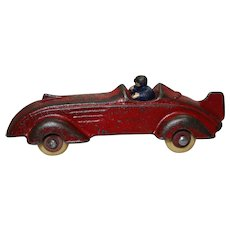 "Rare Circa: 1930's ""Champion"" 5"" Cast Iron Race Car with Driver"