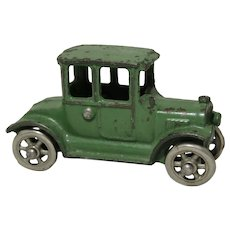"Circa: 1925-1929 Small 4"" Cast Iron Hubley Model T Coup.   ""300 Ford Coup"""