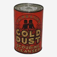 Early 1900's Unopened 'Gold Dust Scouring Cleanser' Container.